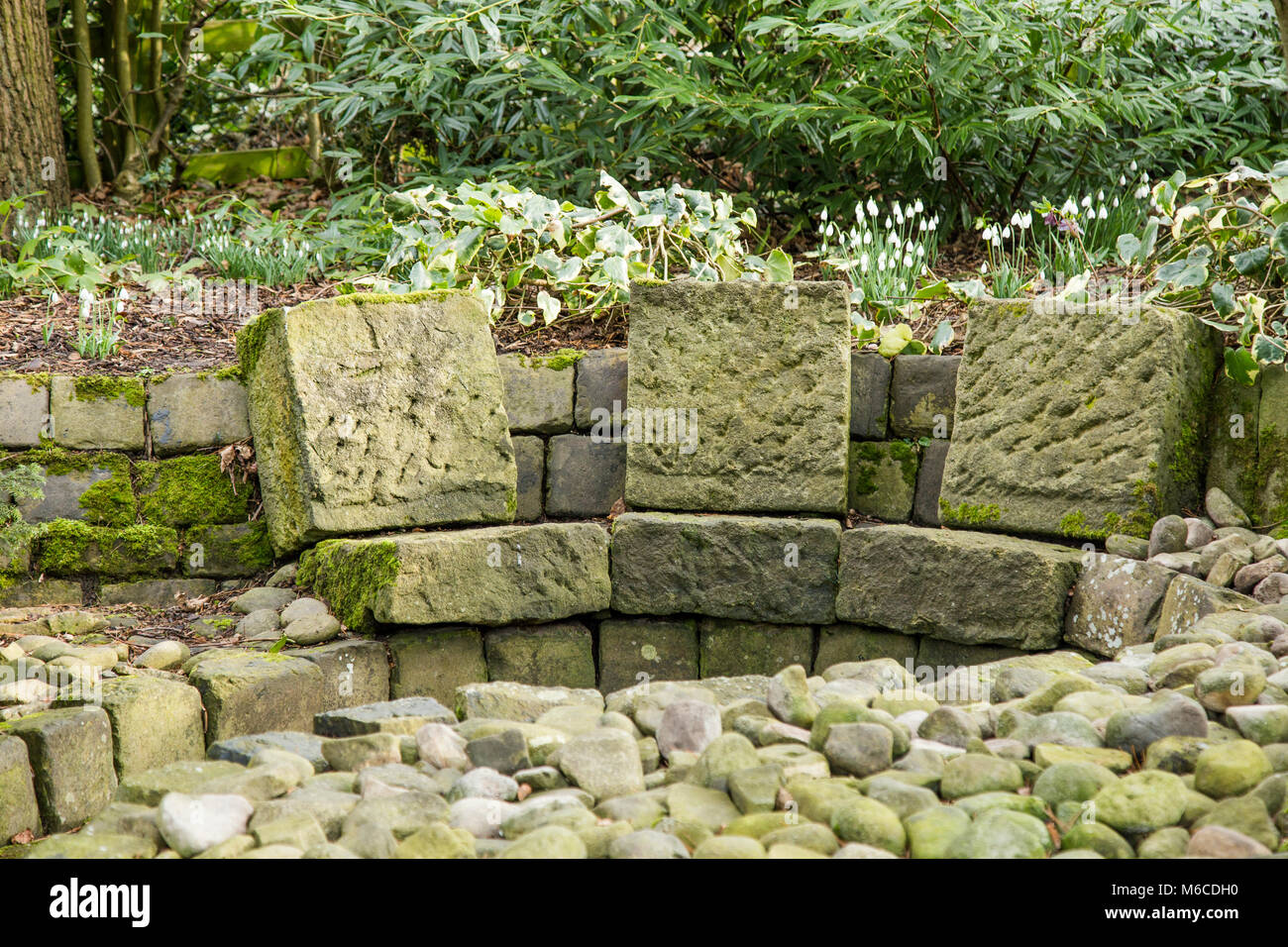 Wondrous Stone Garden Seating At York Gate Garden Leeds Stock Photo Cjindustries Chair Design For Home Cjindustriesco