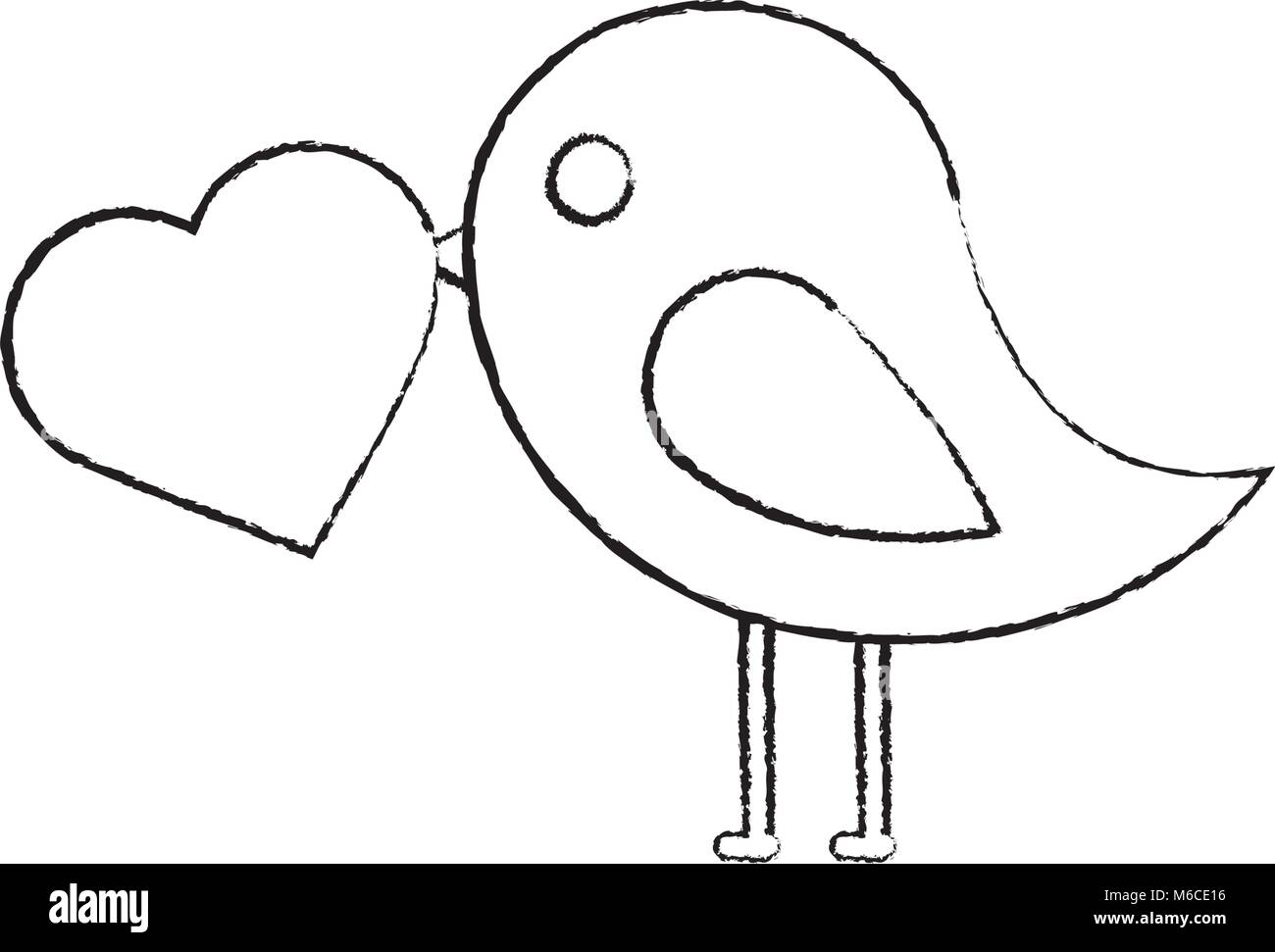 bird cartoon icon image  Stock Vector