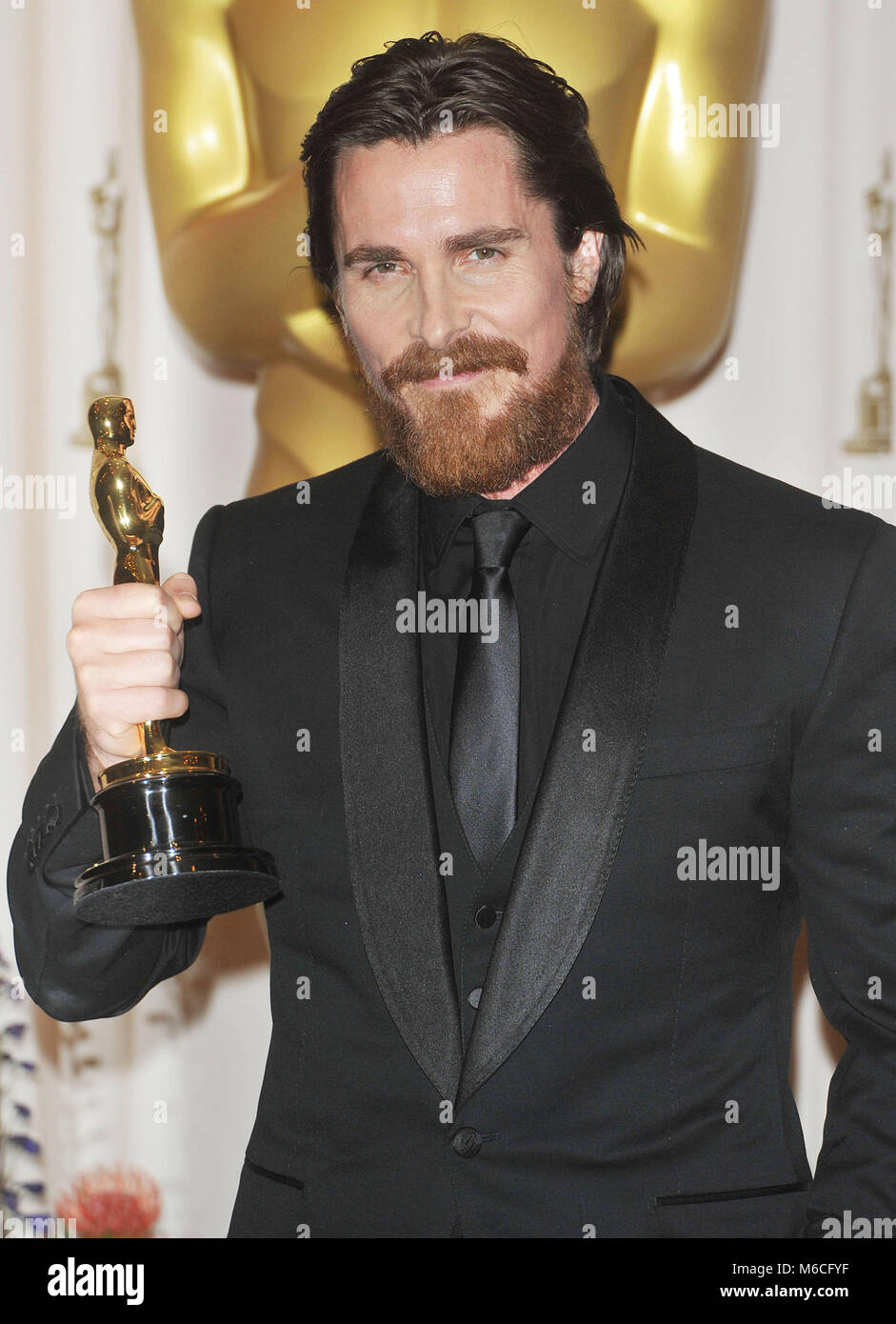 Christian Bale Oscar At The 83th Academy Awards At The Kodak Stock Photo Alamy