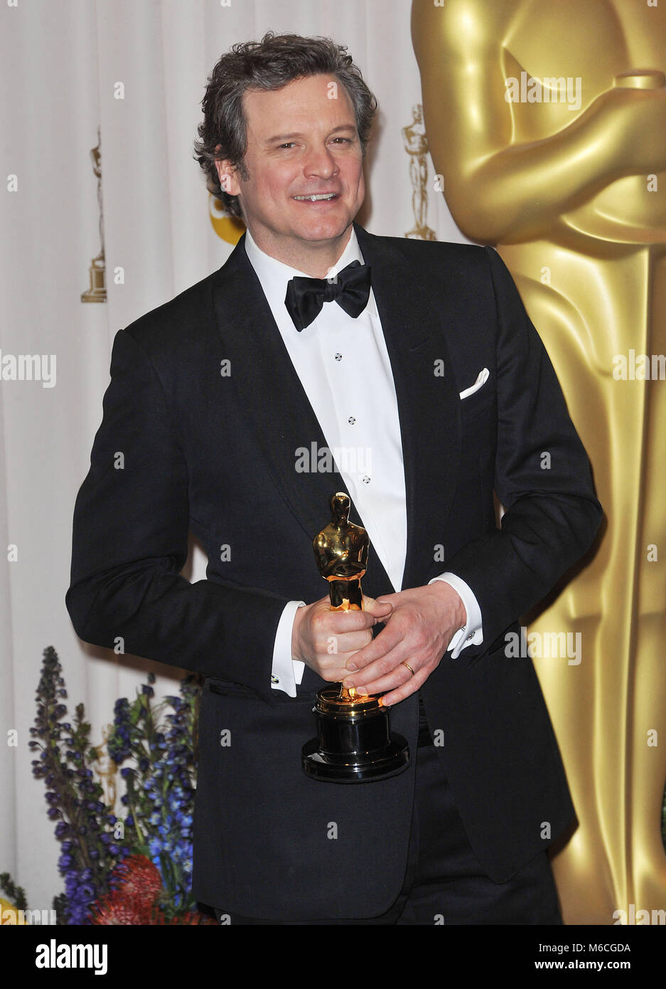 Colin Firth Oscar At The 83th Academy Awards At The Kodak Theatre Stock Photo Alamy