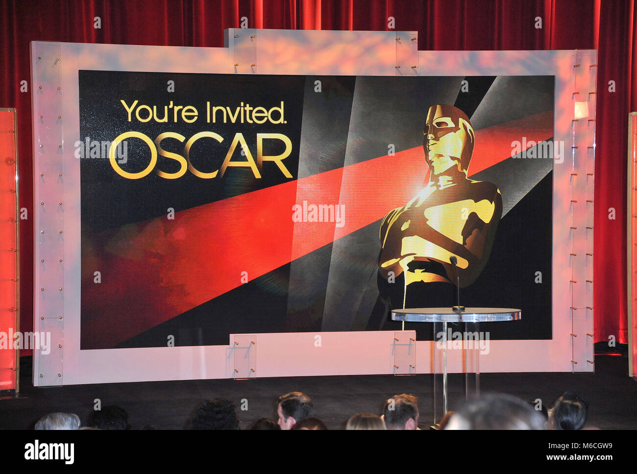Oscars Nominations 2011 at the Academy Of Motion Pictures and Science in Los Angeles. Monique - Stock Image