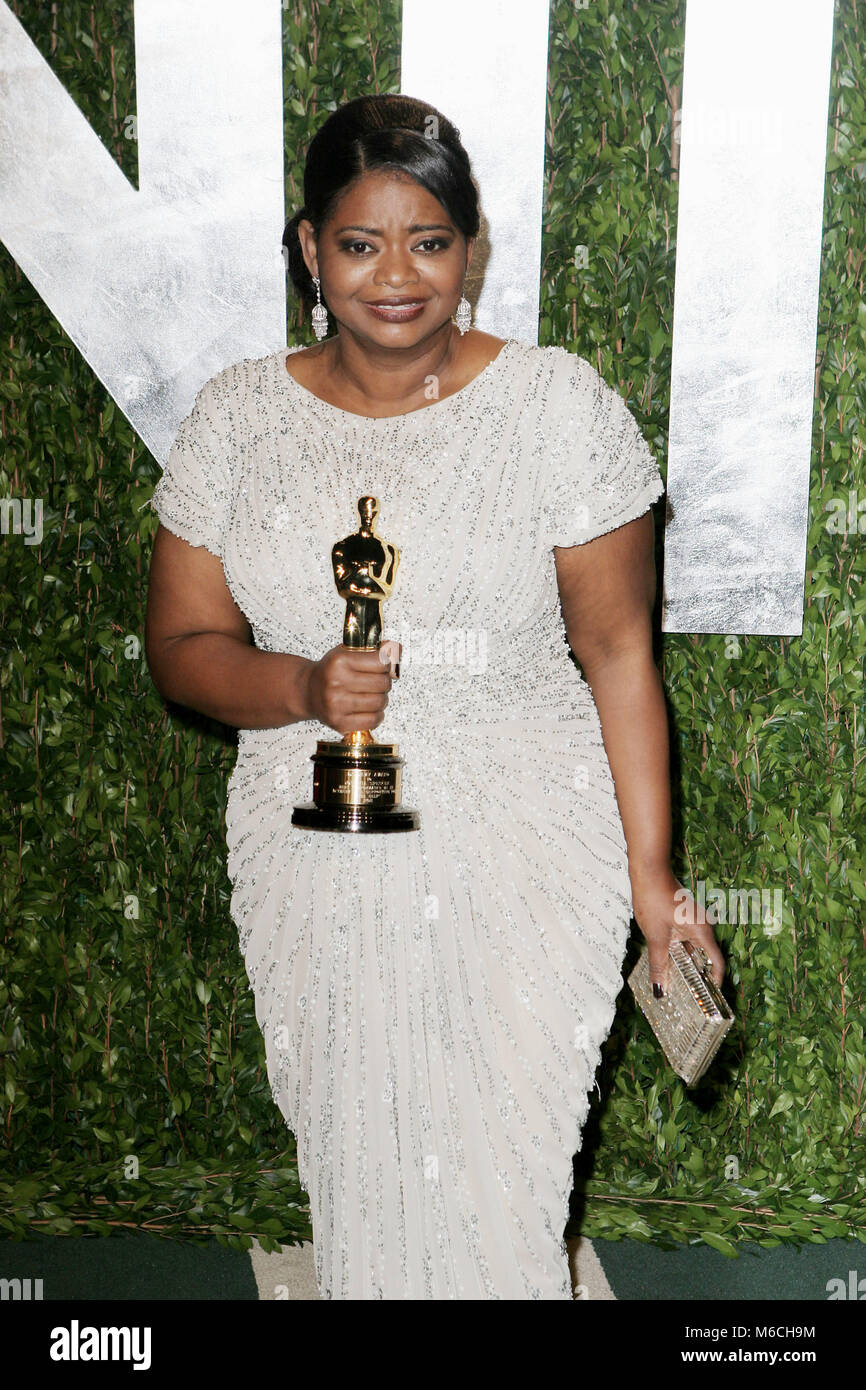 Octavia Spencer  arriving at the Vanity Fair Oscar  Party 2012 - at the Sunset Tower Hotel in Los Angeles.Viola - Stock Image