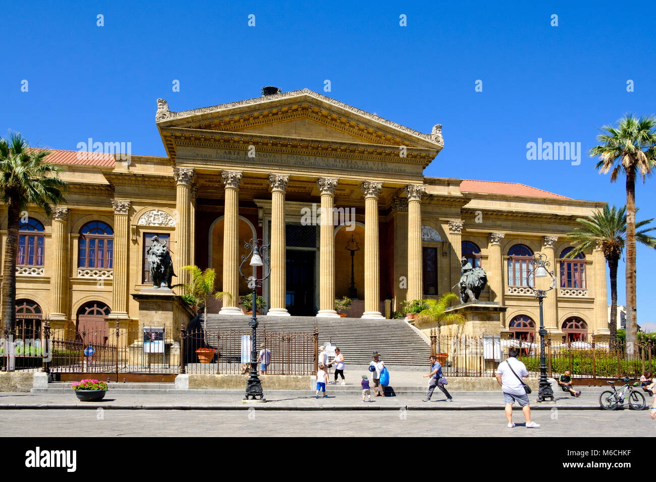 Opera House Teatro Massimo, Palermo, Sicily, Italy Stock Photo ...