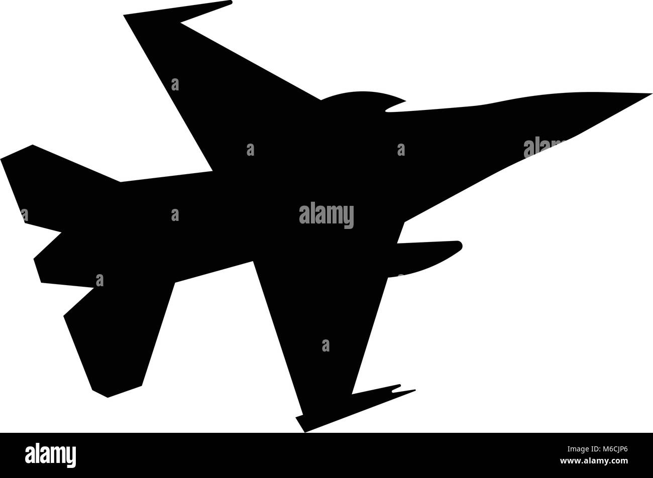 F16 Silhouette On White Background Stock Vector Image Art Alamy