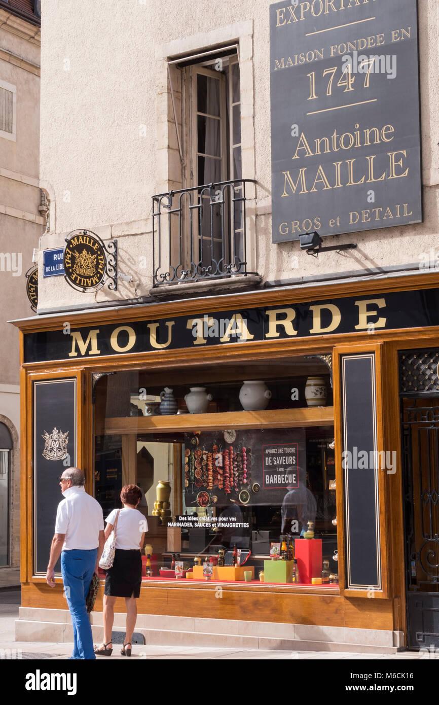 Moutarde Maille shop Dijon Cote-d'Or  Bourgogne-Franche-Comté France Stock Photo