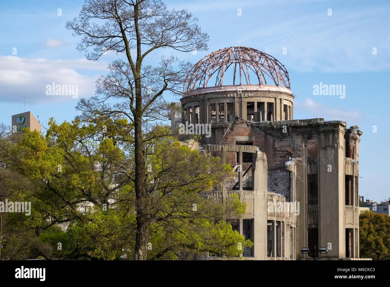 Atomic Bomb Dome (Genbaku Domu), Hiroshima Industrial Promotion Hall, Peace Memorial Park, Hiroshima, Japan - Stock Image