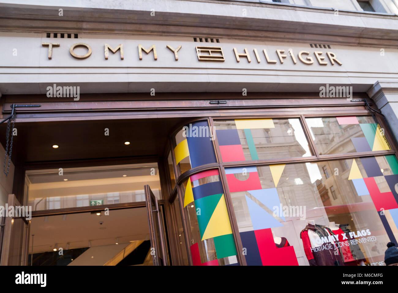 2fe815da Tommy Hilfiger Store, Shop, Regent St. London UK Stock Photo ...