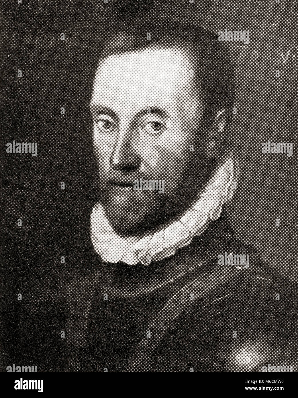 Gaspard de Coligny, Seigneur de Châtillon, 1519 - 1572. French nobleman, admiral and Huguenot leader in the - Stock Image