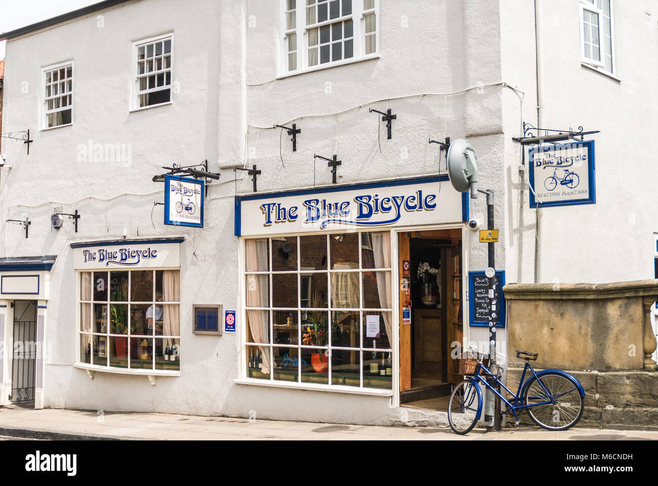 The Blue Bicycle restaurant, Fossgate, York - Stock Image