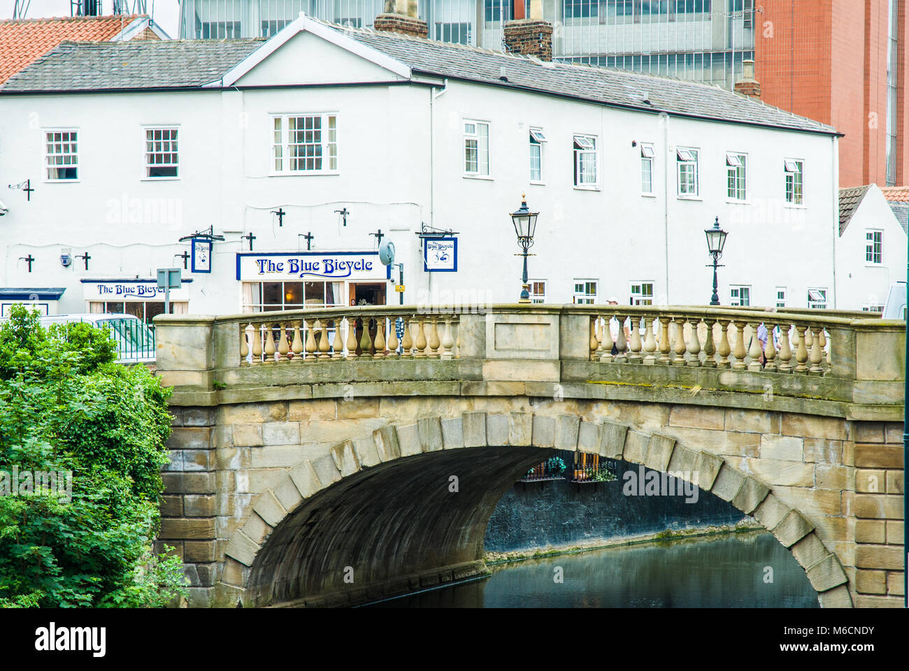 The Blue Bicycle restaurant in Fossgate, York, North Yorkshire - Stock Image