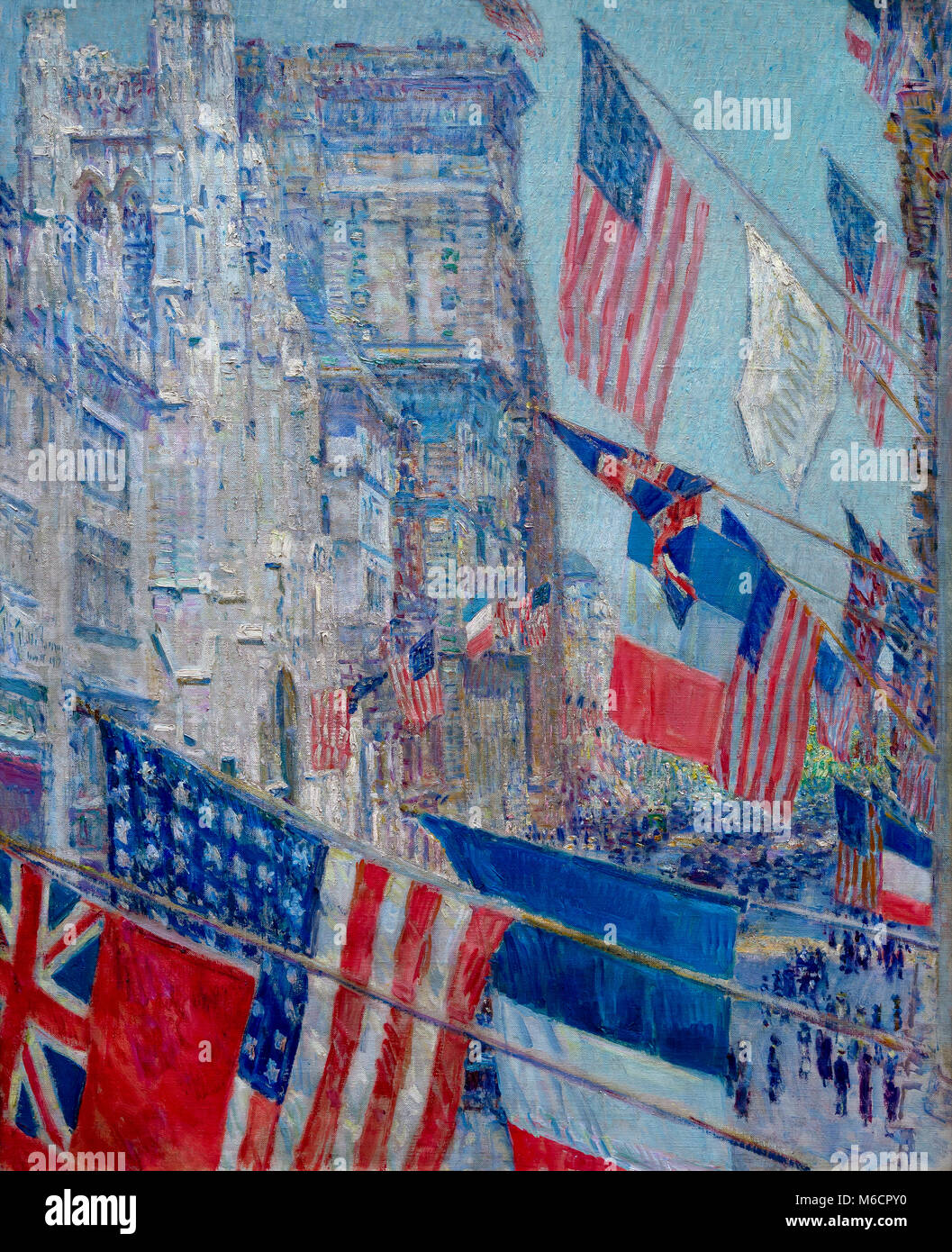 Allies Day, May 1917, Childe Hassam, 1917, National Gallery of Art, Washington DC, USA, North America - Stock Image