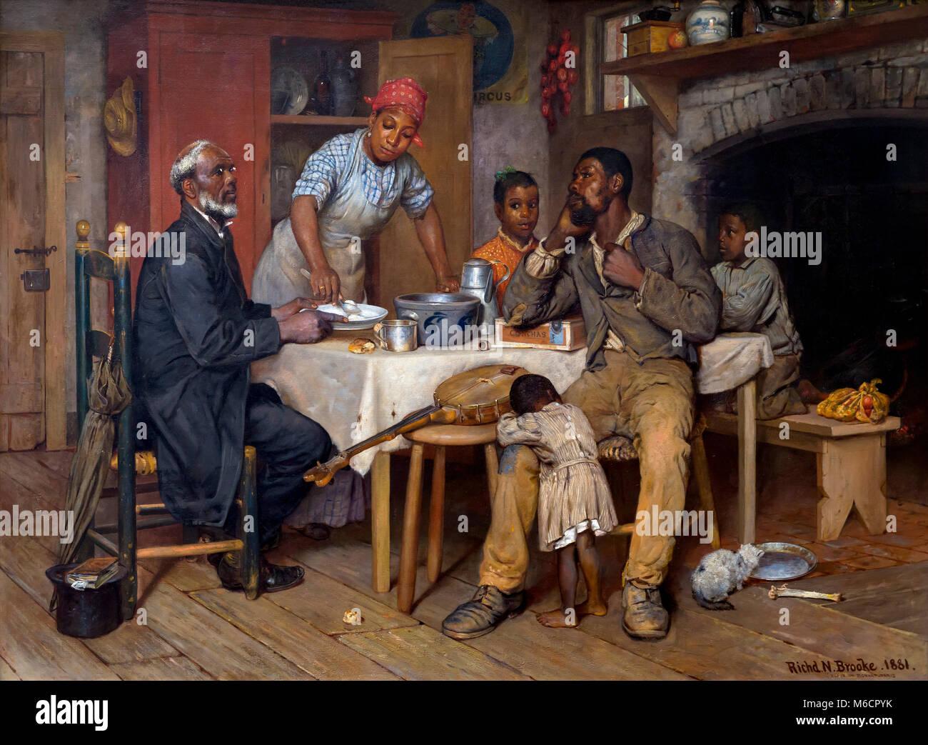 A Pastoral Visit, Richard Norris Brooke, 1881, National Gallery of Art, Washington DC, USA, North America - Stock Image