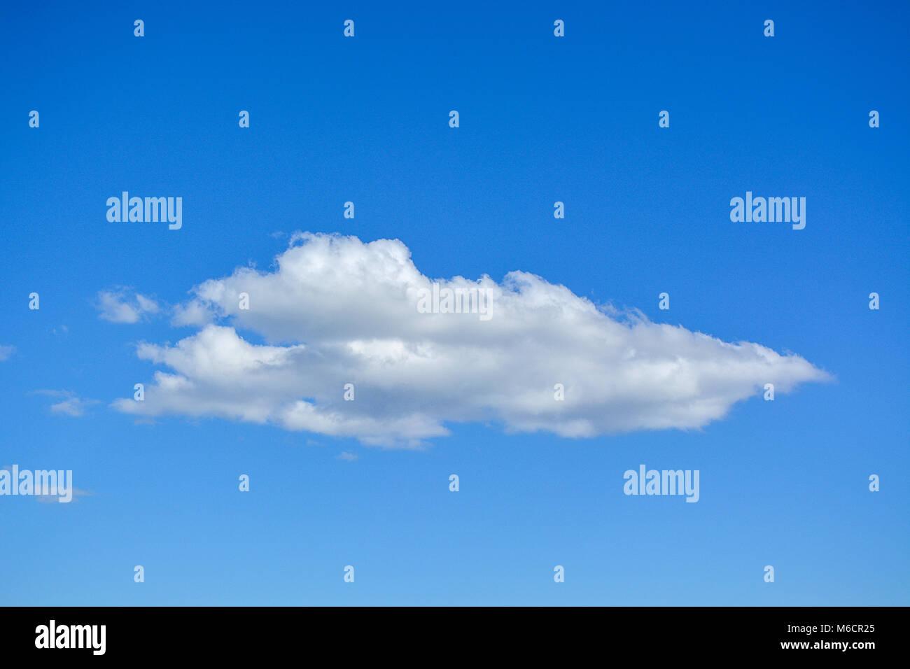 scenic single cloud blue sky - Stock Image