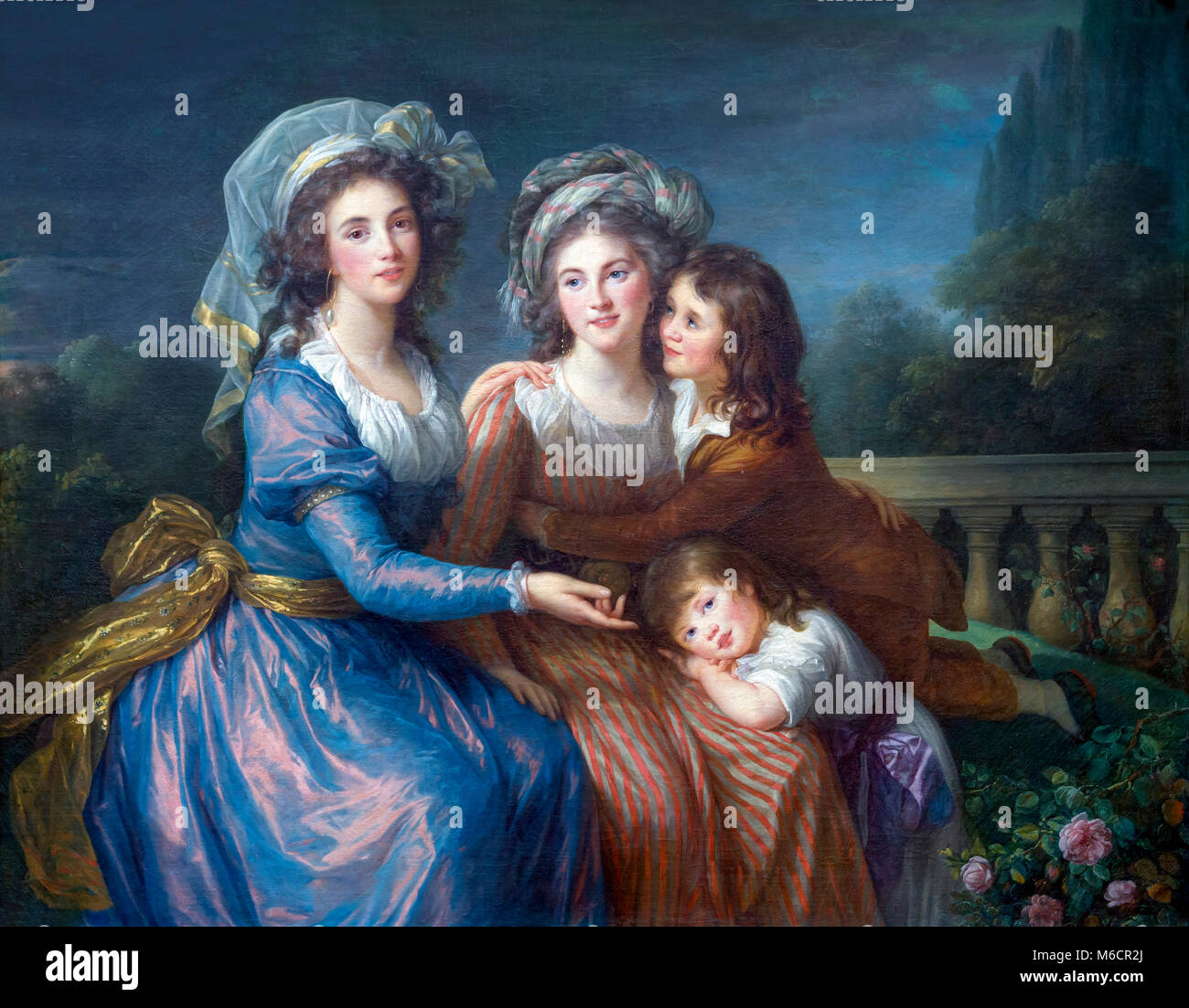 The Marquise de Pezay and the Marquise de Rouge with Her Sons Alexis and Adrien, Elizabeth Louise Vigee Le Brun, - Stock Image