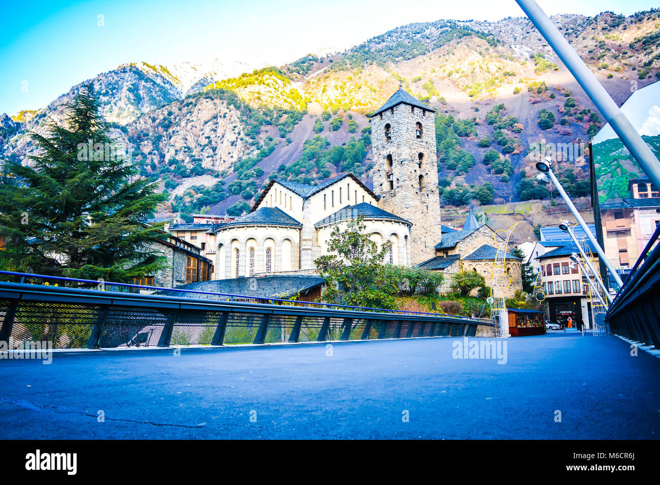Sant Esteve church in Andorra la Vella, Andorra - Stock Image