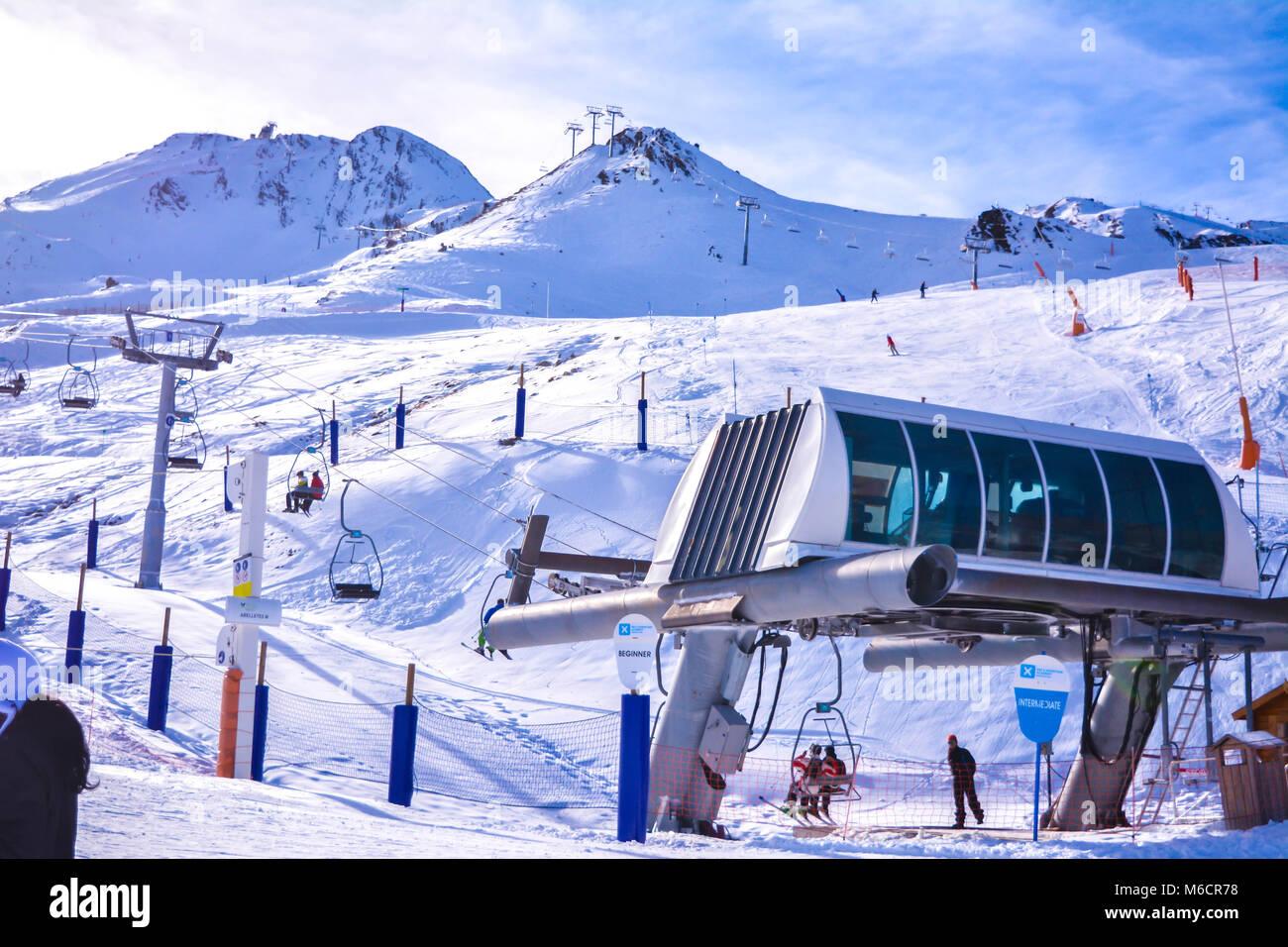 Pas de la Casa Andorra - Stock Image