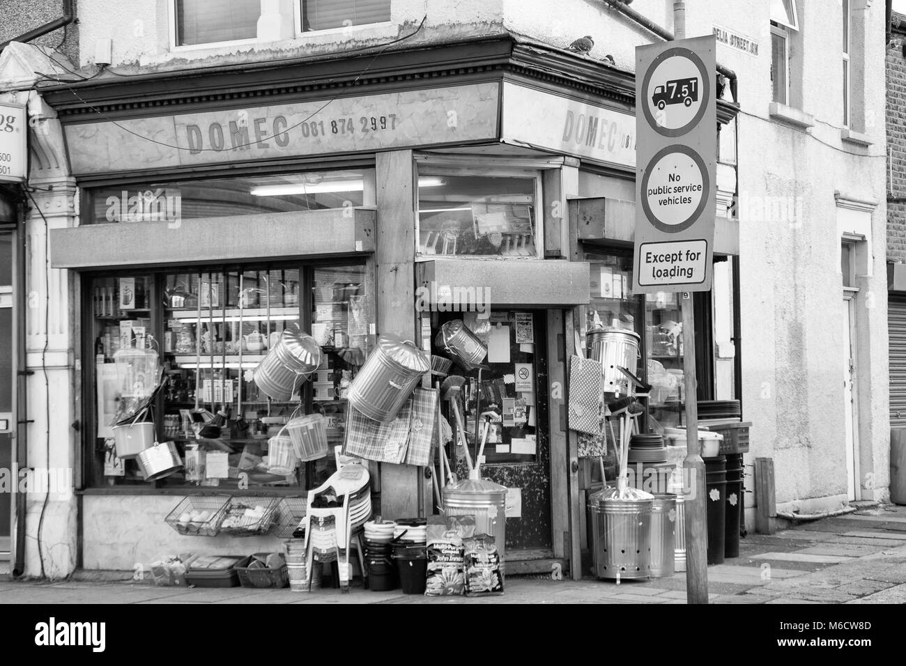 Old Hardware Shop in Tooting, South London, England, UK; - Stock Image