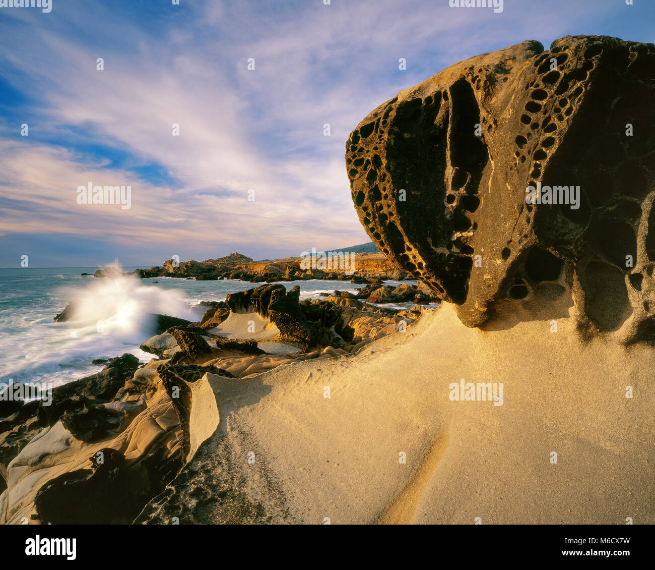 Sandstone Formations, Salt Point State Park, Sonoma County, California - Stock Image