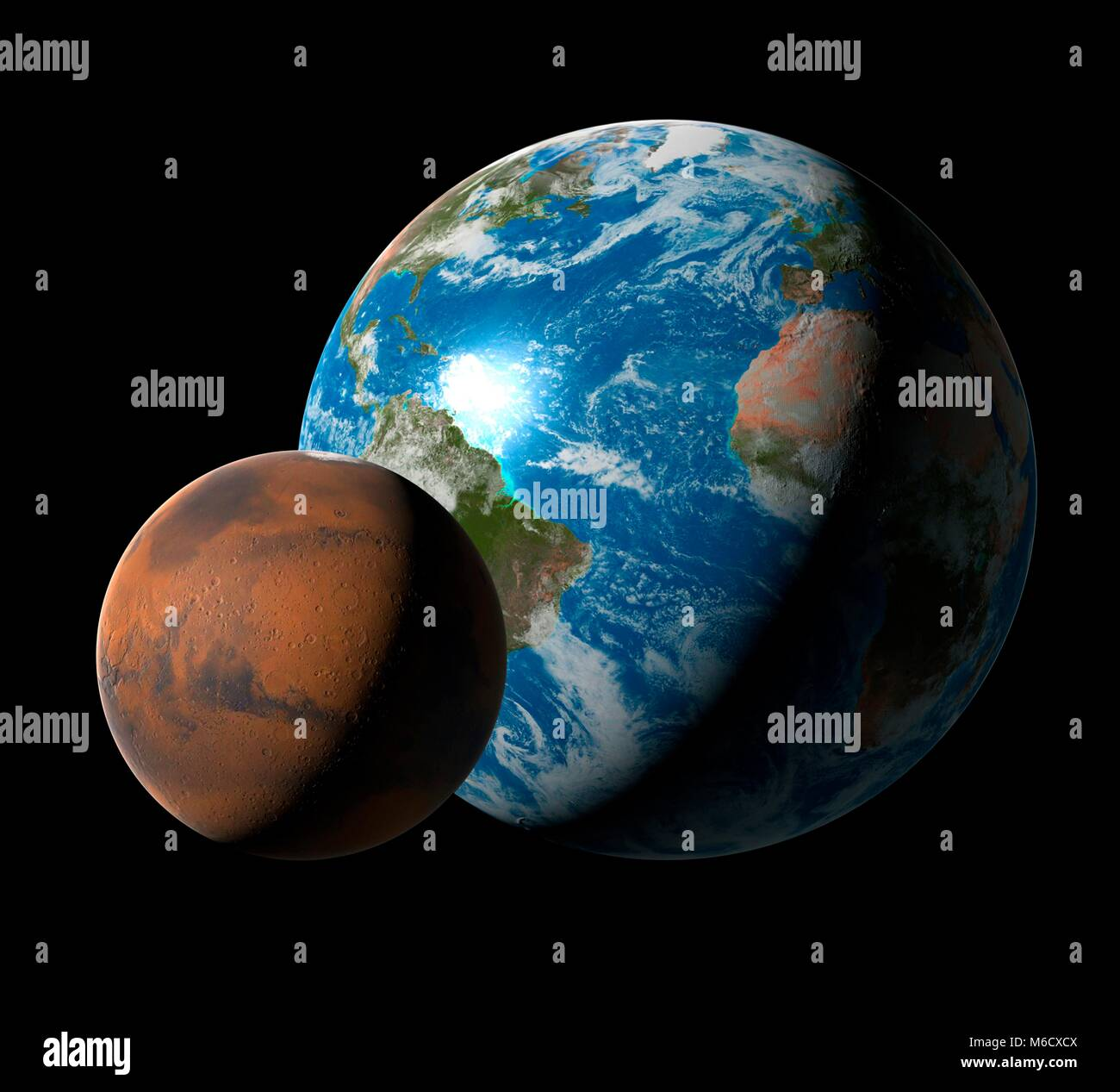 What is the diameter of Mars and how does it relate to the diameter of the Earth Diameter, mass and description of Mars