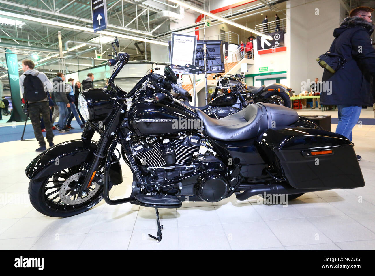 Nadarzyn, Poland. 02nd Mar, 2018. Poland, Nadarzyn, 2nd March 2018: PTAK expo center opens Motorcycle Show. Credit: - Stock Image