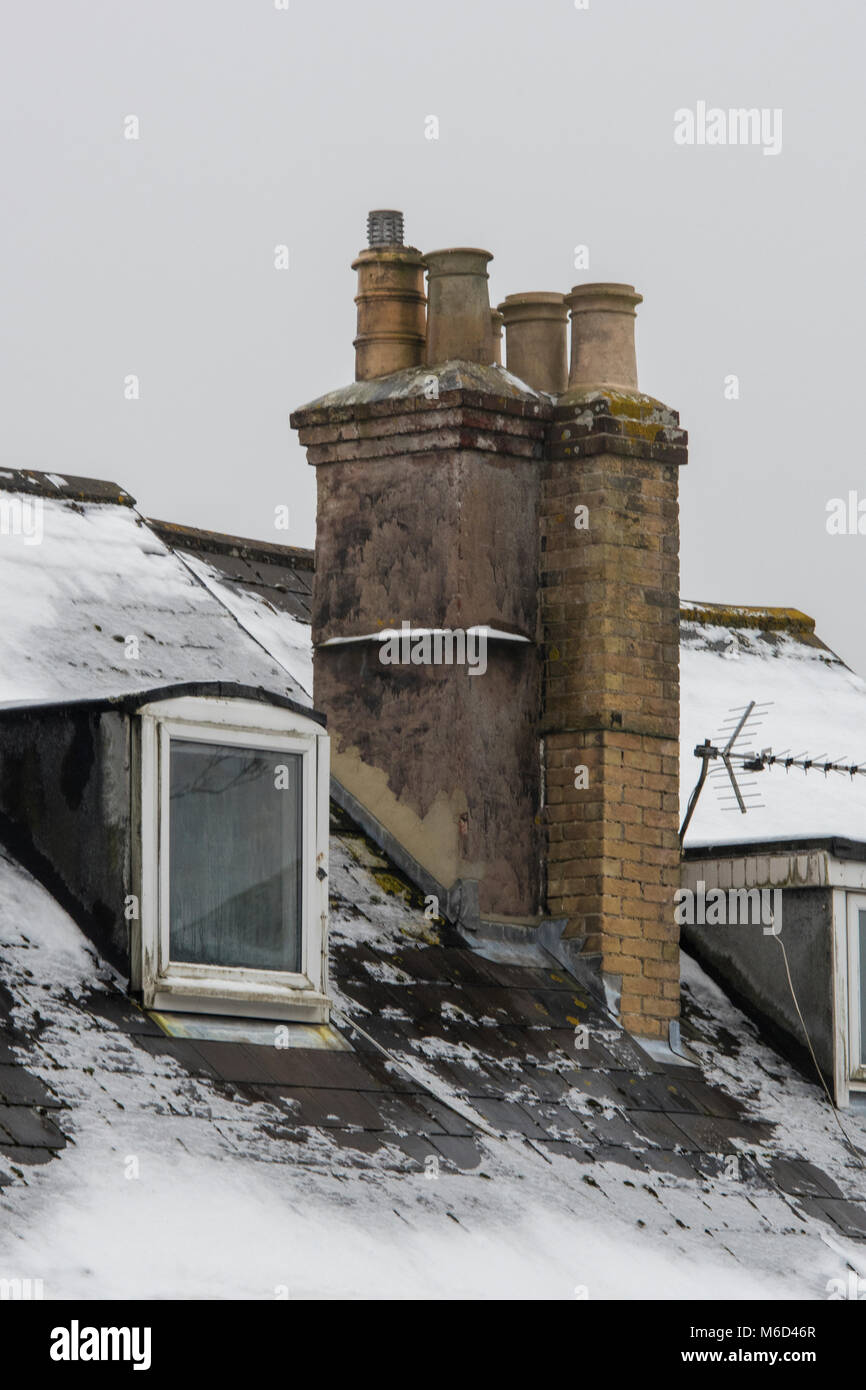 2nd March, 2018. UK Weather. Freezing conditions continue to hamper everyday life across the UK with sub-zero temperatures - Stock Image