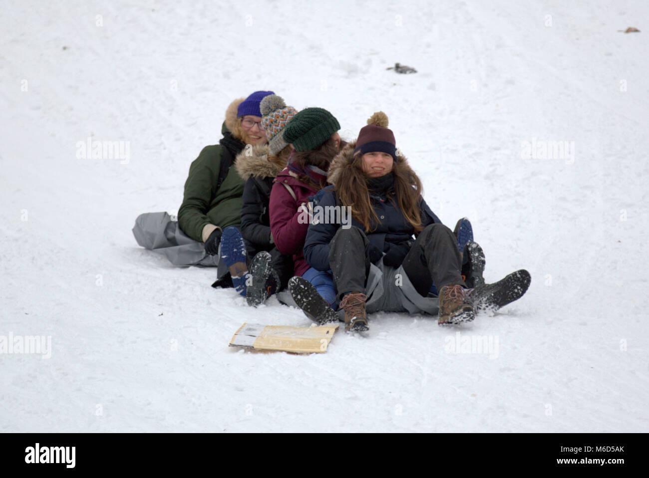 children sledging snow scotland stock photos  u0026 children