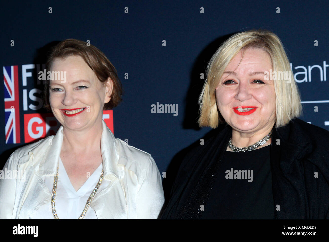 LA, California. 2nd March 2018. Katie Spencer and Sarah Greenwood attending the 'Film is Great' British - Stock Image