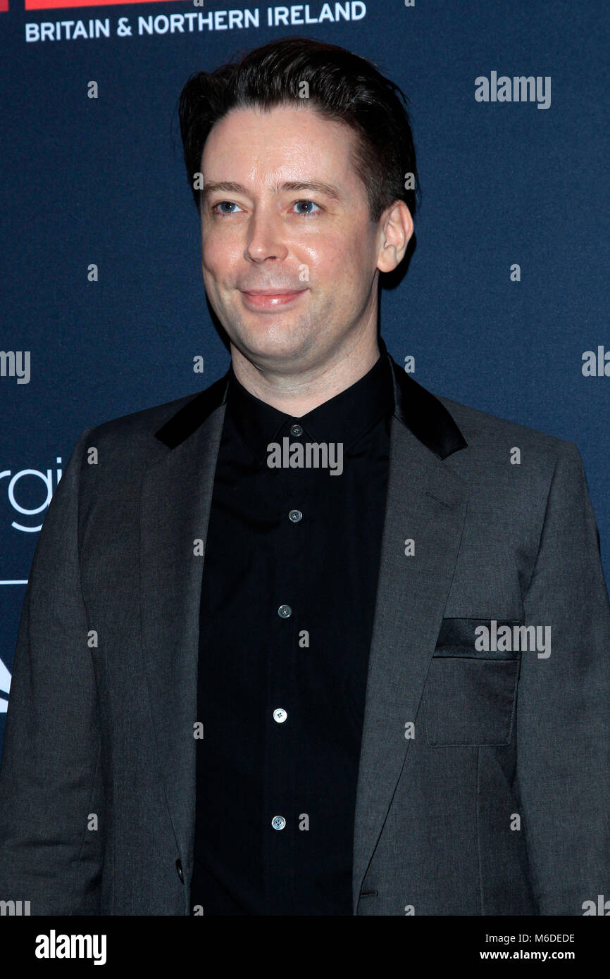 LA, California. 2nd March 2018. Theo Green attending the 'Film is Great' British Film Reception honoring - Stock Image