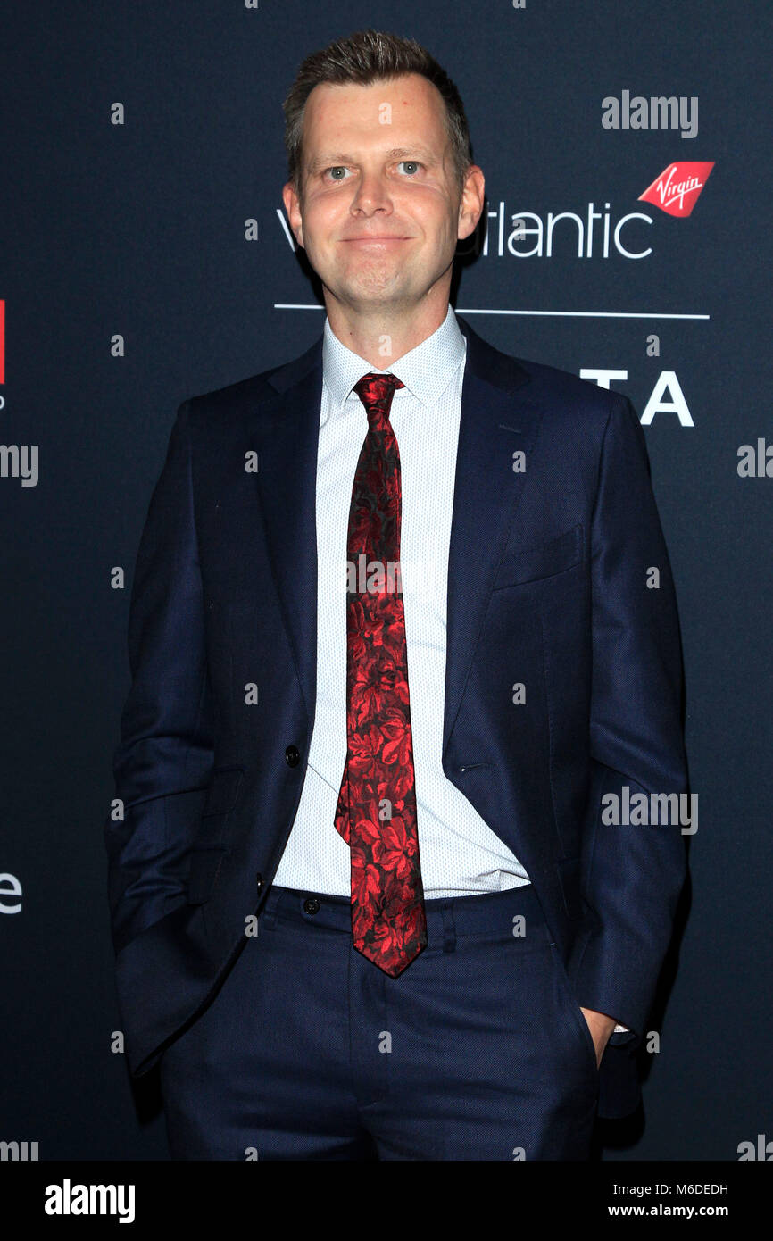 LA, California. 2nd March 2018. Julian Slater attending the 'Film is Great' British Film Reception honoring - Stock Image