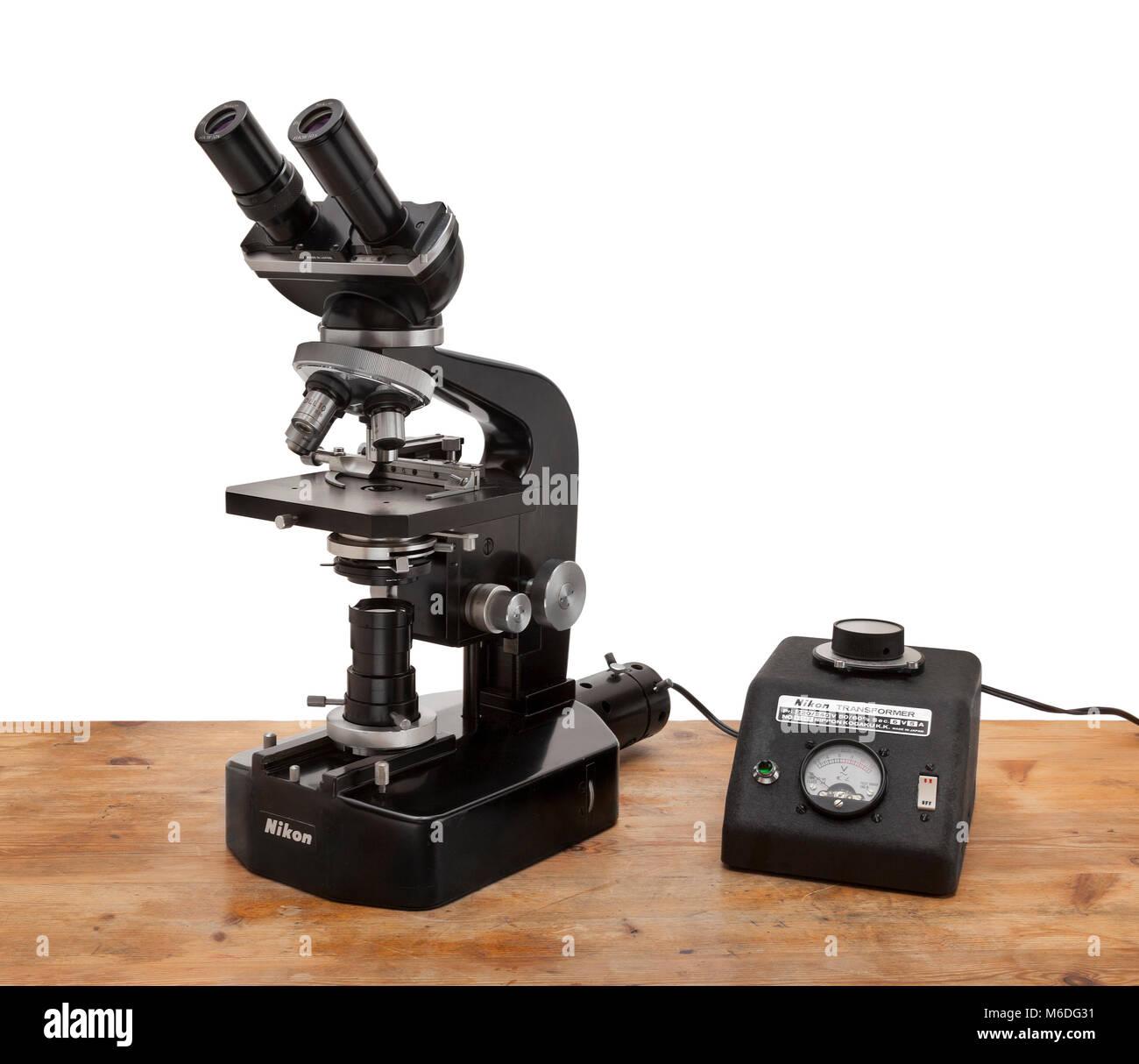 Vintage Nikon compound microscope type Kt Kohler