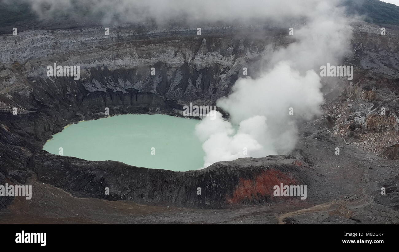 volcanoes in Costa Rica - Stock Image