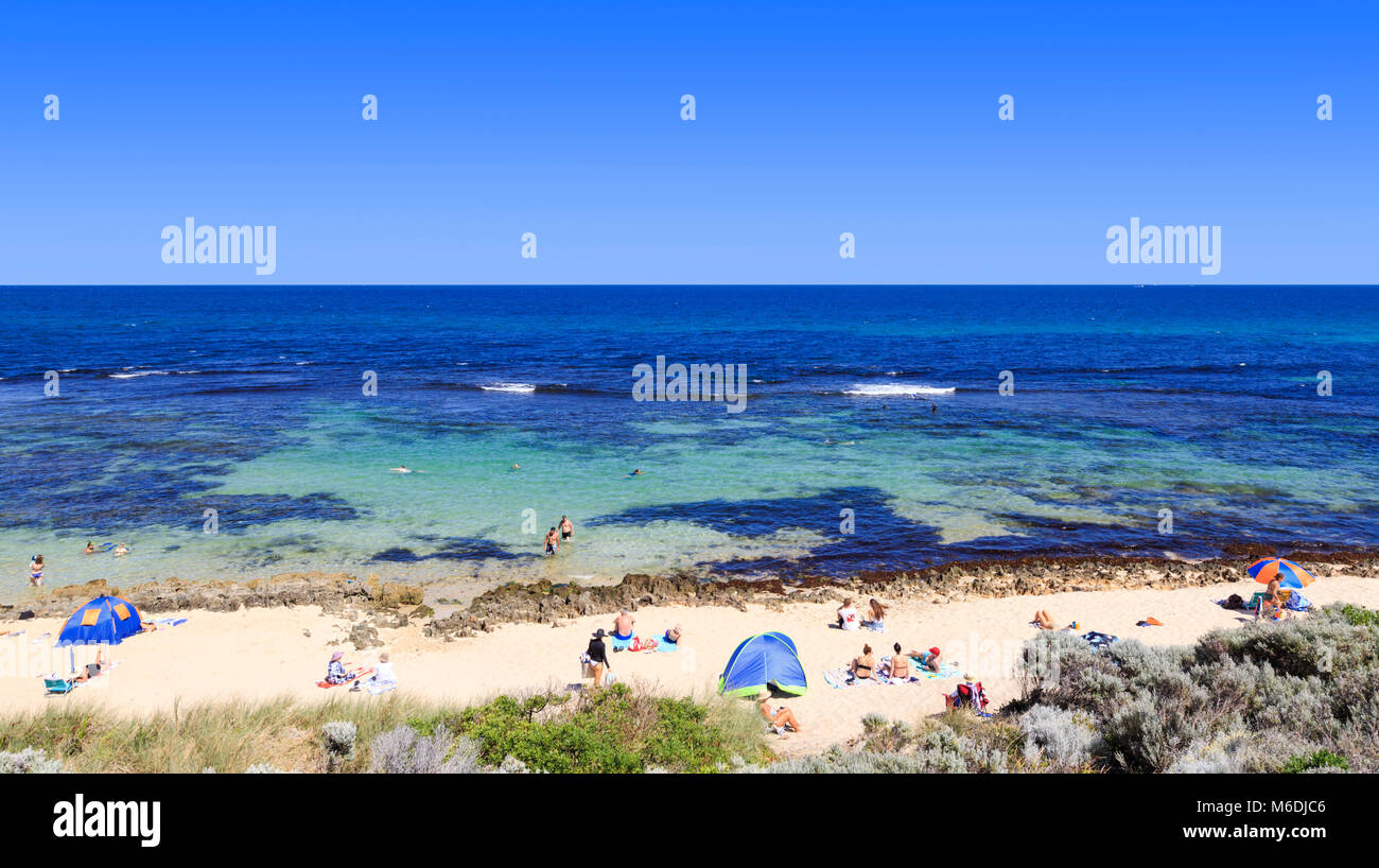 Mettam's Pool beach. North Beach, Perth, Western Australia - Stock Image