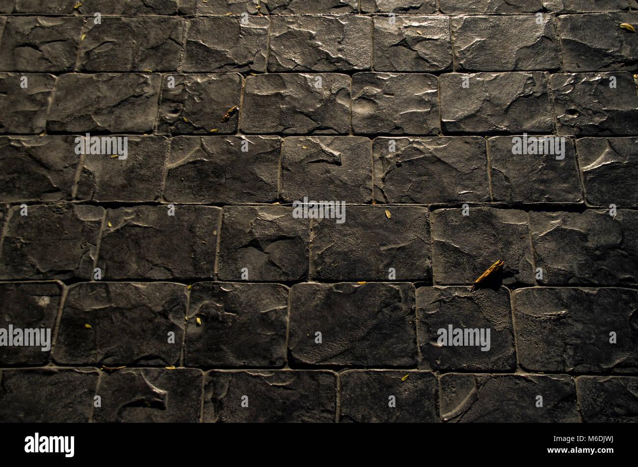 Black Brick Texture For 3d And Illustration Design Wallpaper