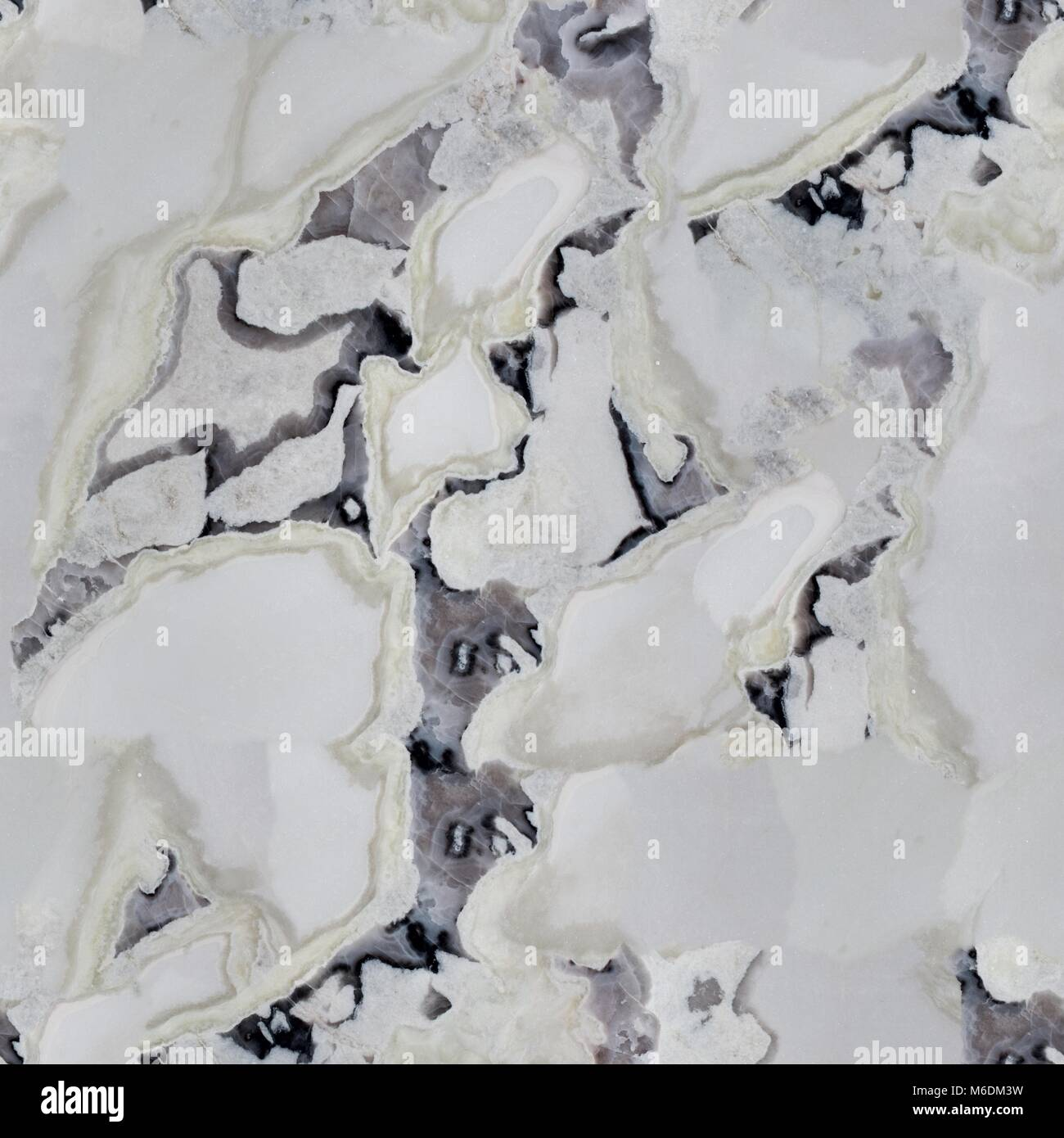 Light Patterned Marble Texture With Grey Spots Seamless Square Background Tile Ready High Resolution Photo