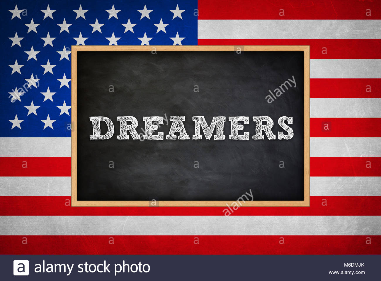 Dreamers Children in America - Stock Image