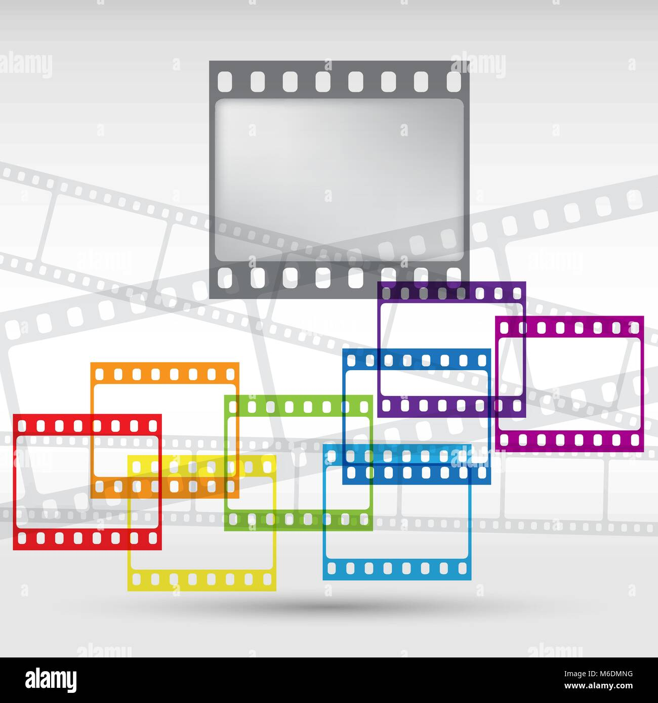 Abstract background with a film strip. Vector Eps 10 Stock Vector
