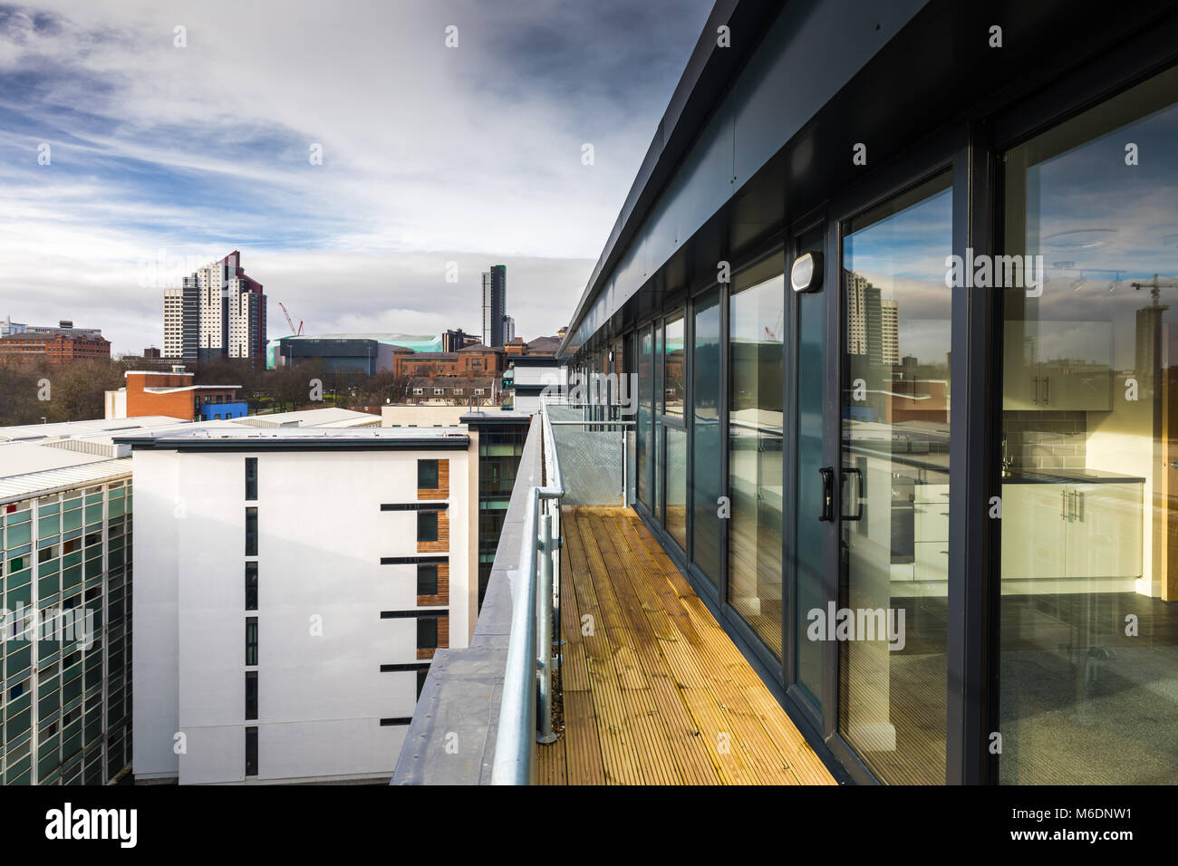 New Property Development Projects On Skinner Lane Leeds. Changing The Leeds Skyline. - Stock Image