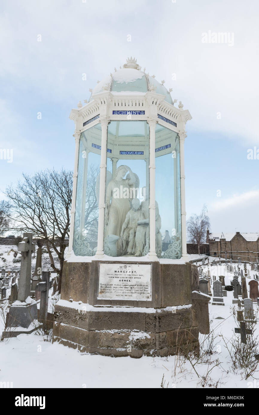 Wigtown Martyrs Monument, Stirling Old Town Cemetery, Church of the Holy Rude, Stirling, Scotland, UK - Stock Image