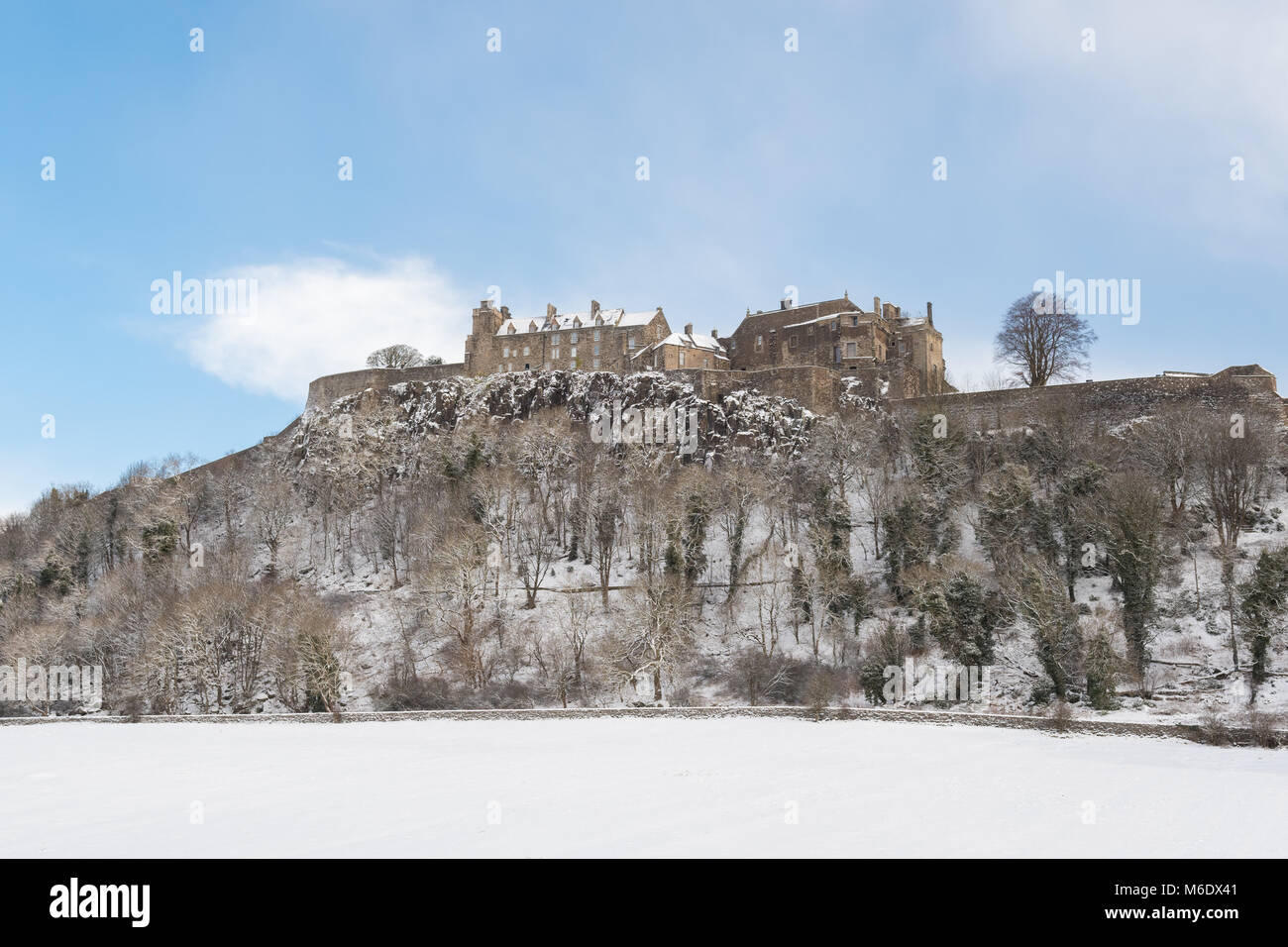 Stirling Castle in winter, Scotland, UK - Stock Image
