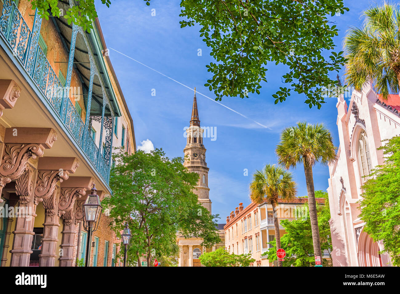 Charleston, South Carolina, USA historic downtown cityscape. - Stock Image