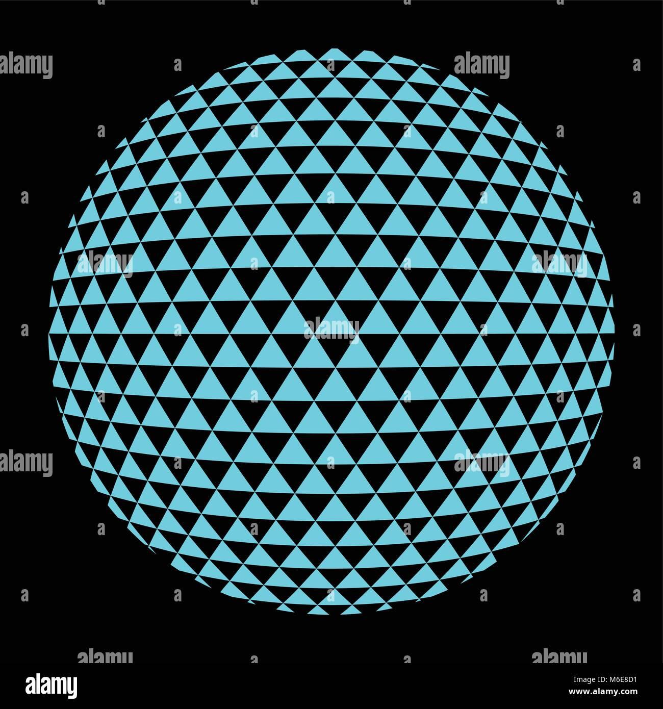 halftone blue circle - Stock Image