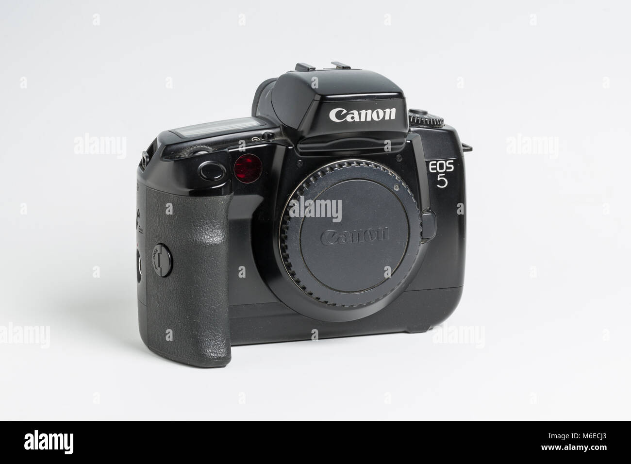 Canon EOS 5 camera with eye-controlled focussing.  1992 - 1998.  Known as EOS A2 and A2e in the USA. - Stock Image