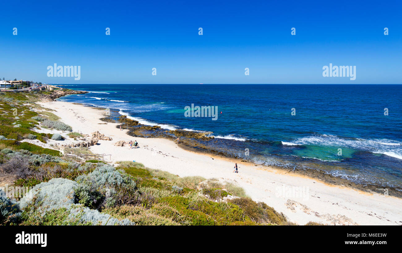 North Beach on a summer's day - Stock Image