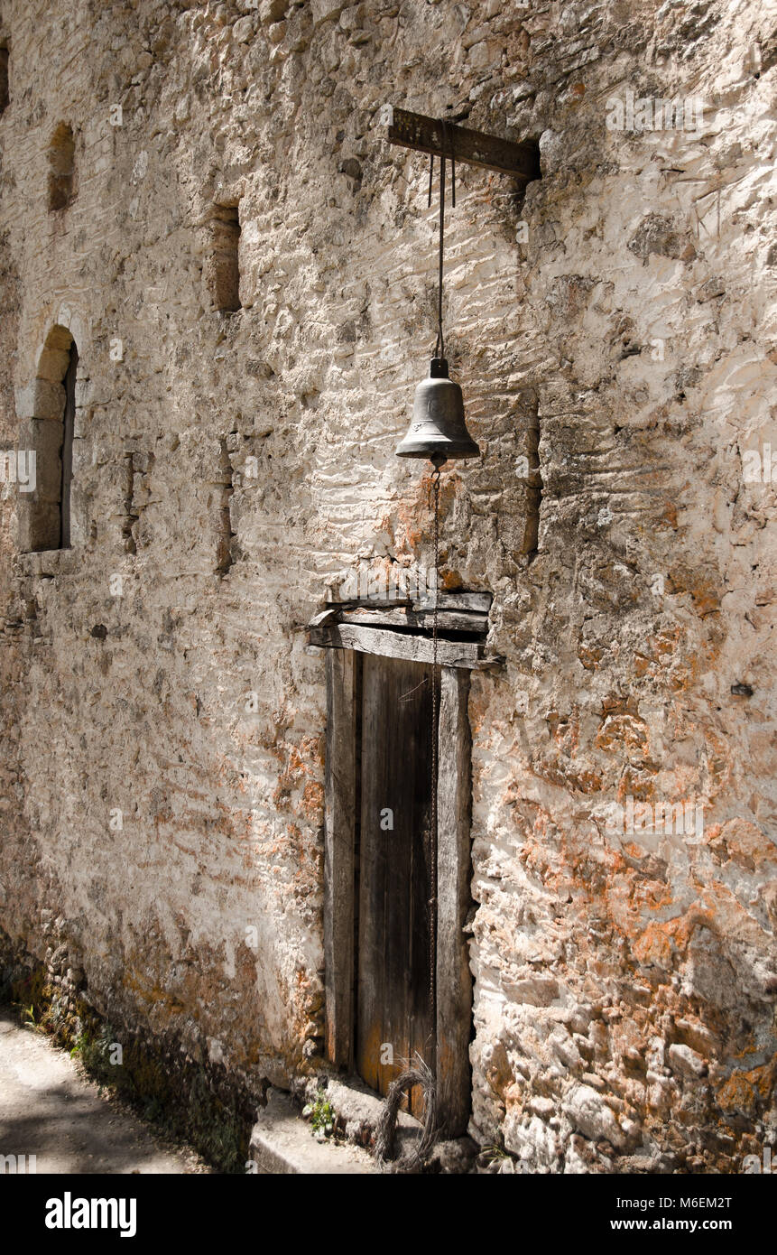 Italian Door Bell Stock Photos Images Alamy Musical Doorbell Circuit With Over Light Old Wooden A Small Above It In Stone Wall Greece