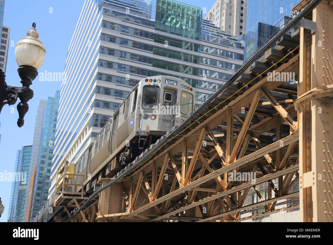 the loop transit system chicago illinois - Stock Image