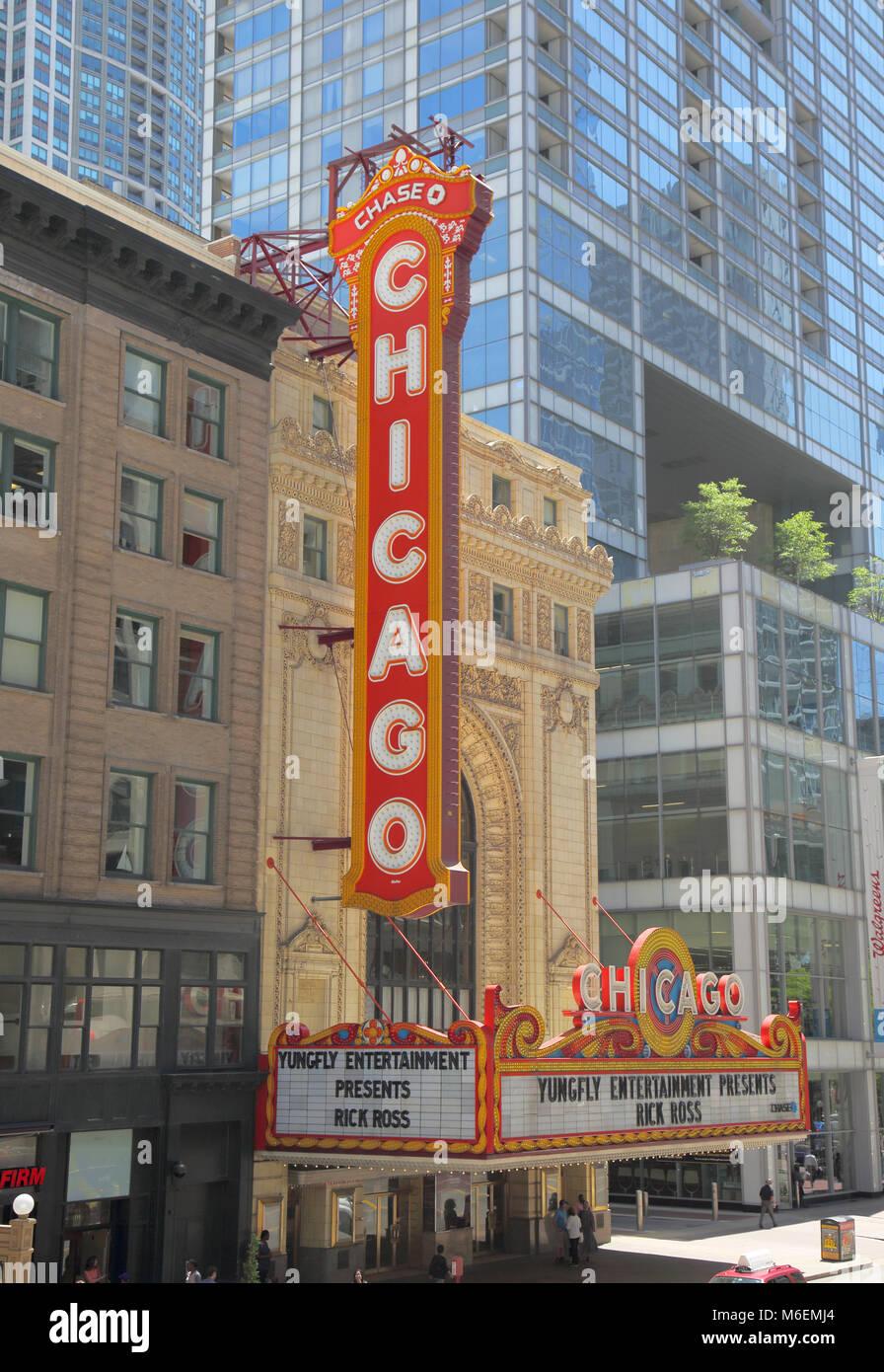 chicago theatre illinois - Stock Image