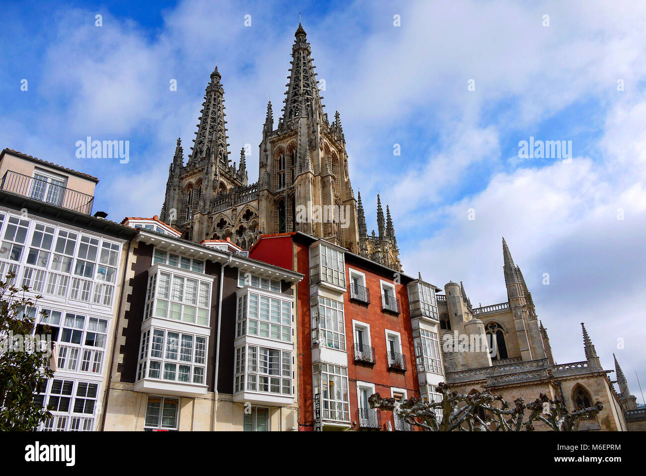 The Cathedral of Saint Mary of Burgos in Burgos, Spain. - Stock Image