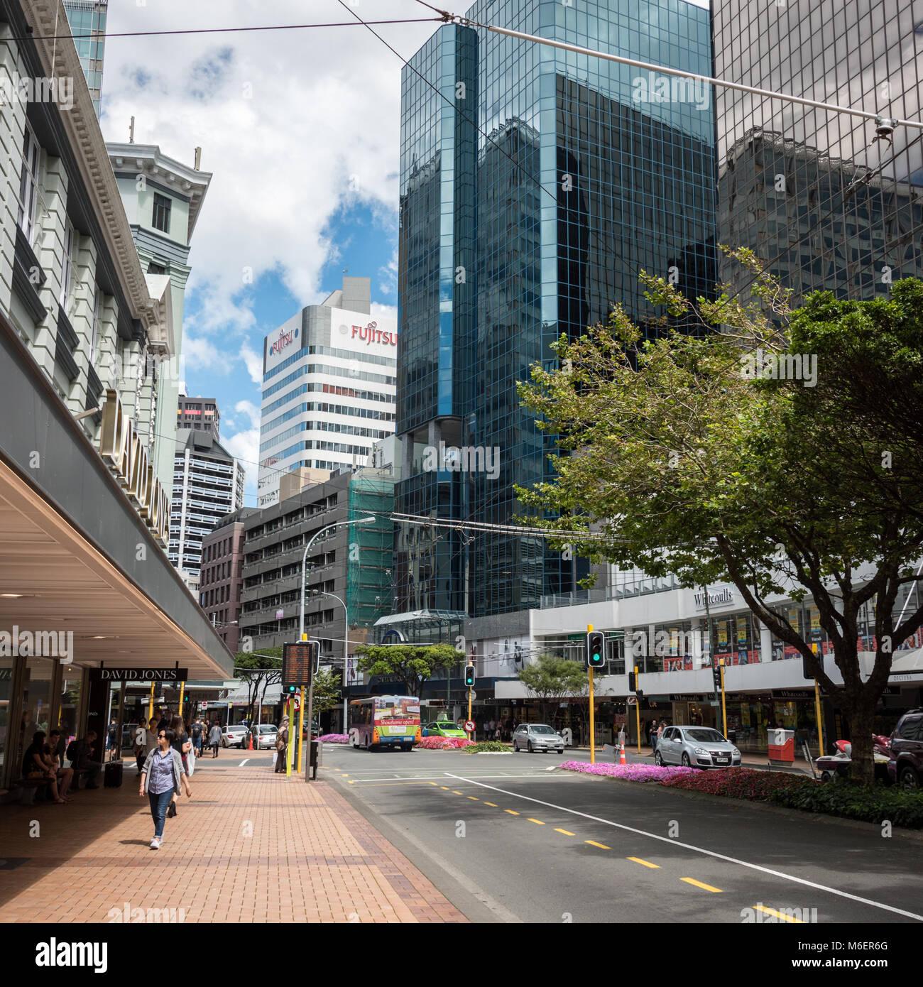 Central Wellington, North Island, New Zealand - Stock Image