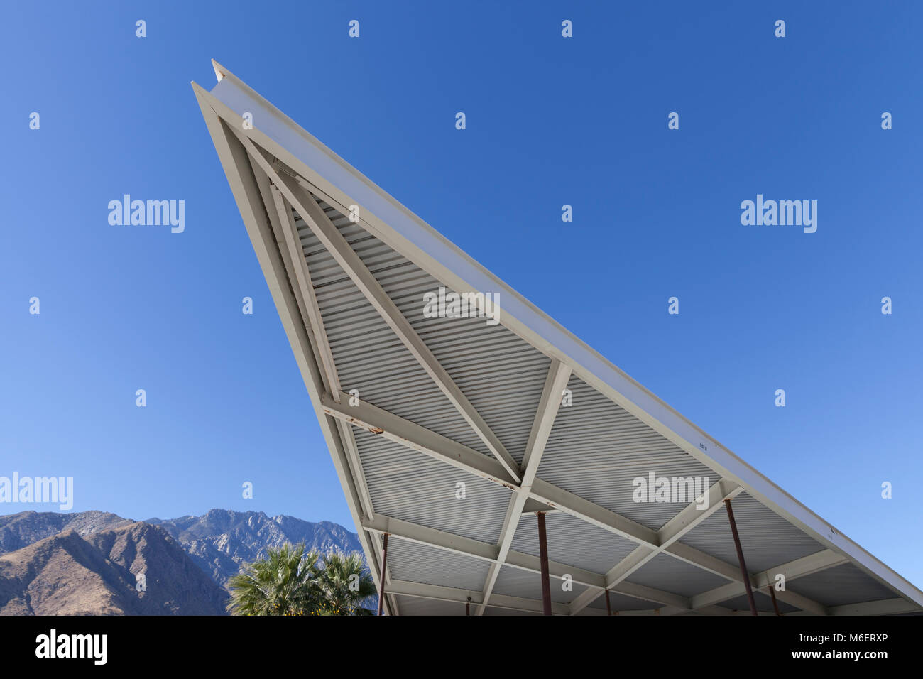 Palm Springs California The distinctive cantilevered canopy of the Tramway Gas Station. The 60u0027s era modernist landmark has operated as the Palm Sp & Palm Springs California: The distinctive cantilevered canopy of the ...