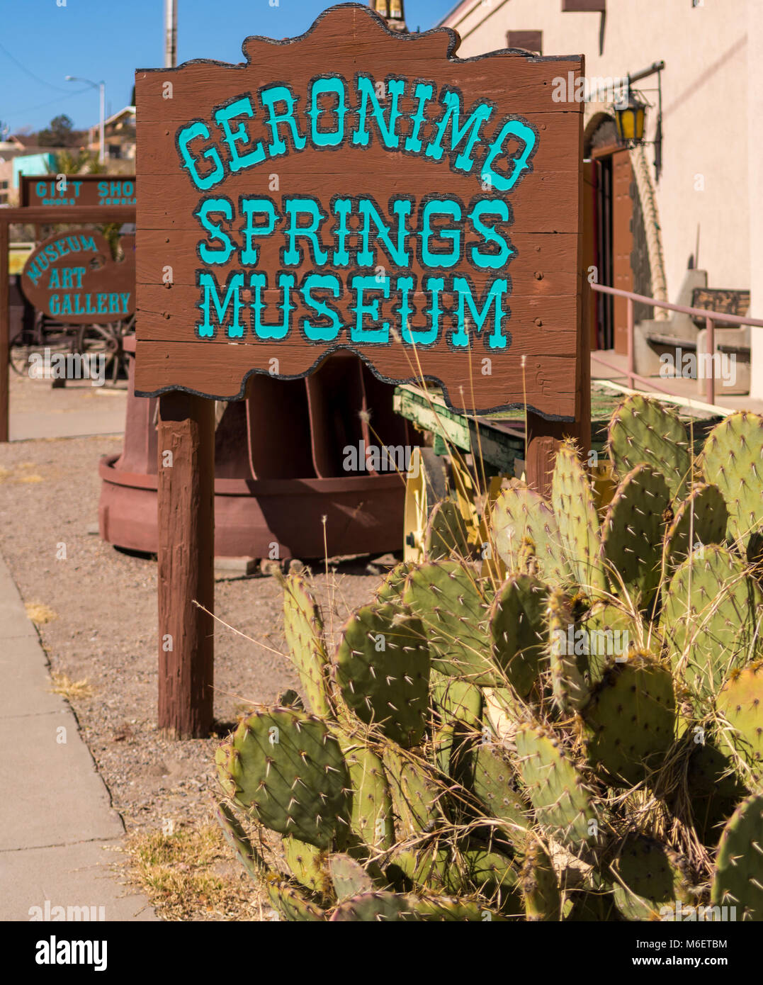 Geronimo Springs Museum in Truth or Consequences New Mexico, USA, near Spaceport America. - Stock Image